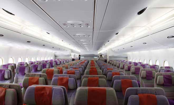 Embarquement pour la nouvelle z lande bord de l 39 avion a380 for Avion airbus a380 interieur
