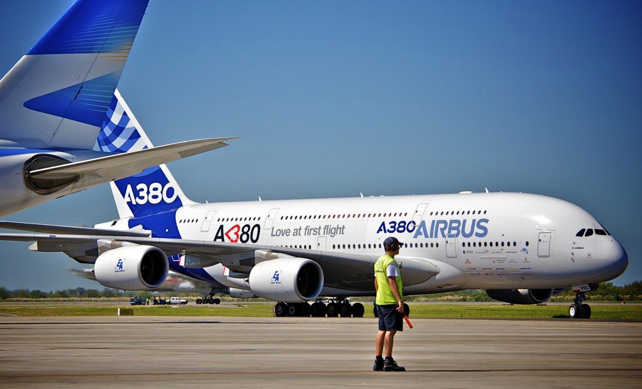 La première partie du trajet se déroule souvent à bord d'un A380. Mais vous emprunterez sans doute un autre modèle d'avion après votre escale à Singapour ou Dubaï.