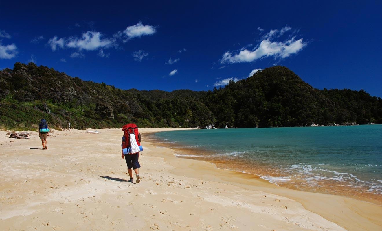 L'Abel Tasman Coast Track fait partit des neuf grandes randonnées de Nouvelle-Zélande. Mais vous n'êtes pas obligé de la suivre sur 55 km. Des bateaux-taxis assurent la navette entre différentes étapes du parcours.