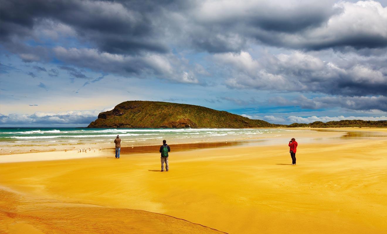 Le parc d'Abel Tasman est le préféré des Néo-Zélandais. Il est idéalement situé à la pointe de l'île du Sud.