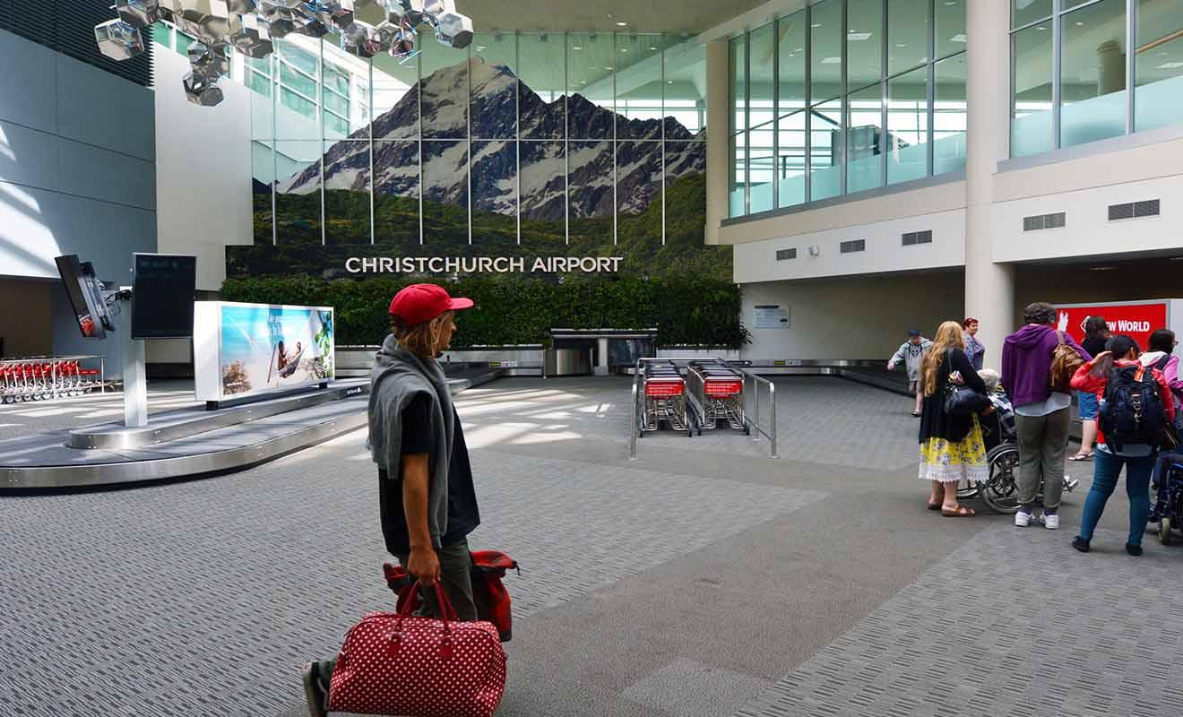 Même s'il s'agit d'un aéroport international, celui de Christchurch est finalement assez petit et vous ne risquez pas de vous perdre.