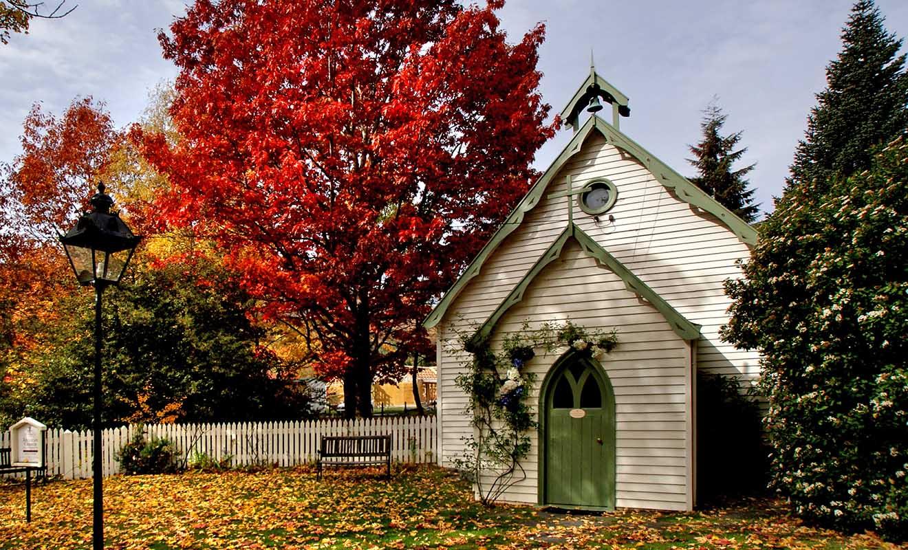Difficile de trouver un endroit plus photogénique que le village d'Arrowtown en automne.