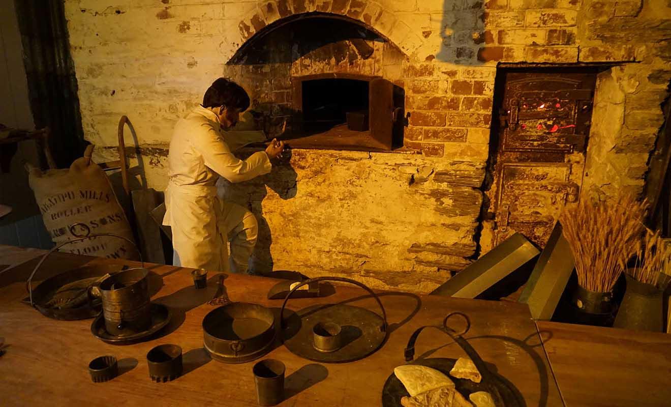 La boulangerie reconstituée dans le sous-sol du musée est très réaliste.