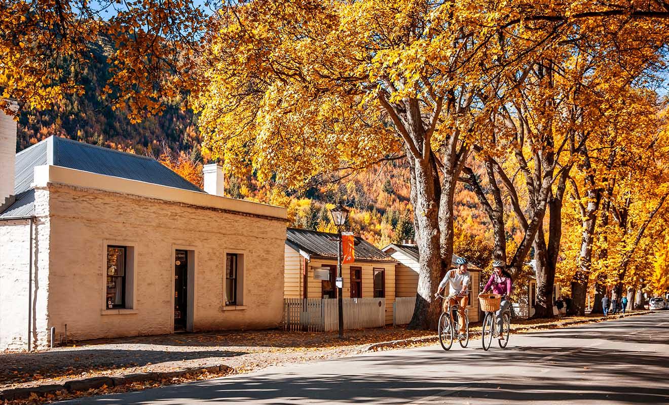 L'idéal est de venir à Arrowtown en vélo plutôt qu'en voiture pour profiter de la beauté de la nature.