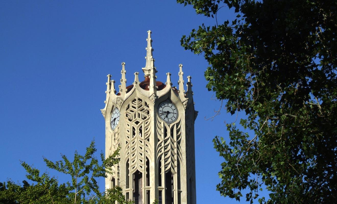 Cette tour qui aurait sa place dans un film d'Harry Potter est inspirée d'un modèle d'Oxford.
