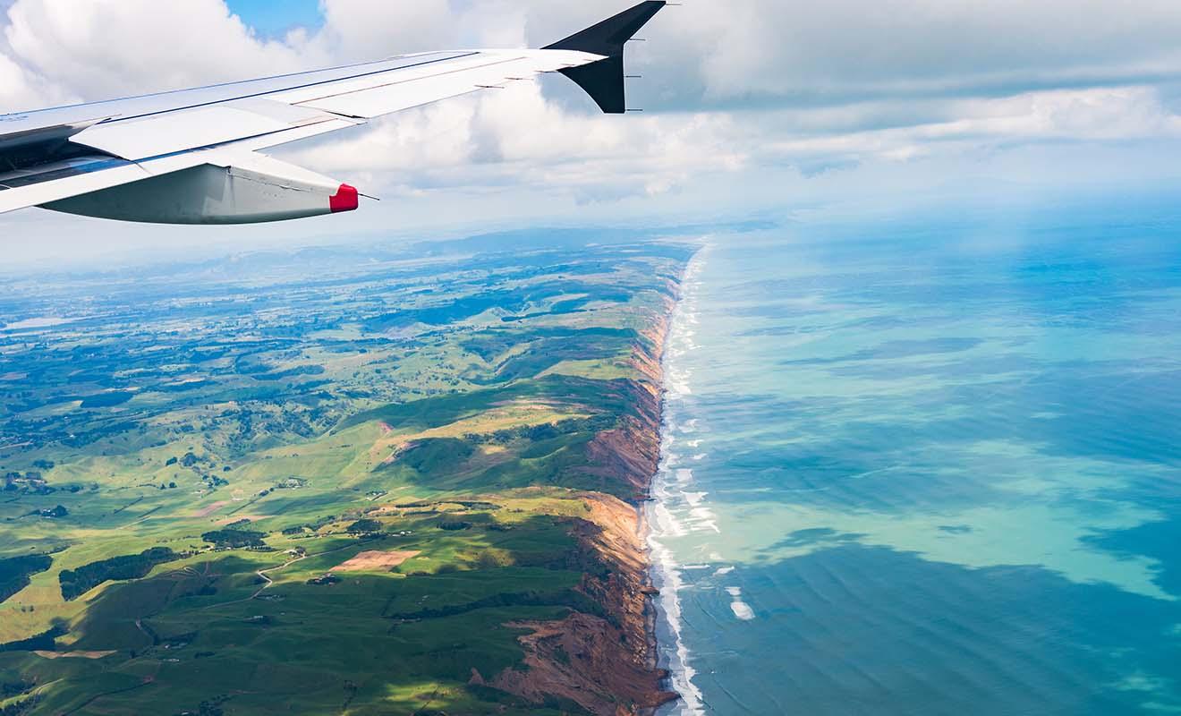 Le trafic aérien en Nouvelle-Zélande est assuré par deux compagnies, ce qui limite le choix mais fait aussi gagner du temps.