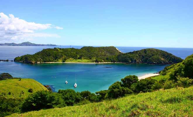 L'Île du nord possède un climat tempéré très agréable en été.