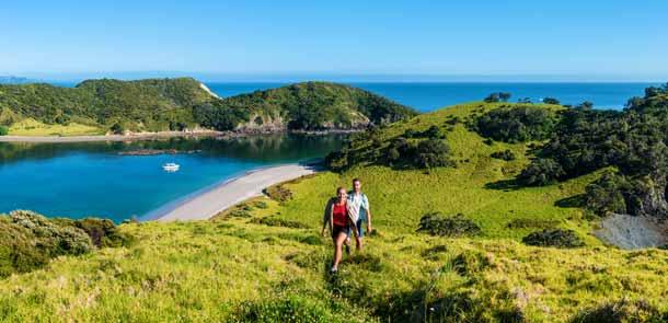 Bay of Islands est connue pour son paysage de rêve et ses îles paradisiaques. C'est aussi la région la plus ensoleillée du pays.