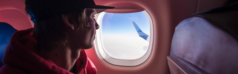 Passager à bord de l'avion qui se rend en Nouvelle-Zélande.