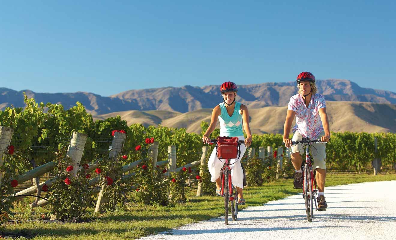 La Wairau Valley possède un relief plat idéal pour circuler à vélo.