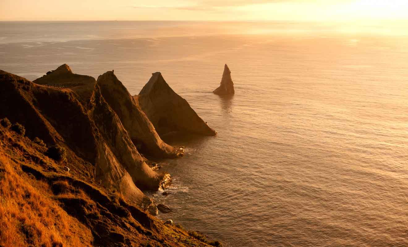 Les rochers pointus qui s'avancent dans l'océan Pacifique sont particulièrement photogéniques.