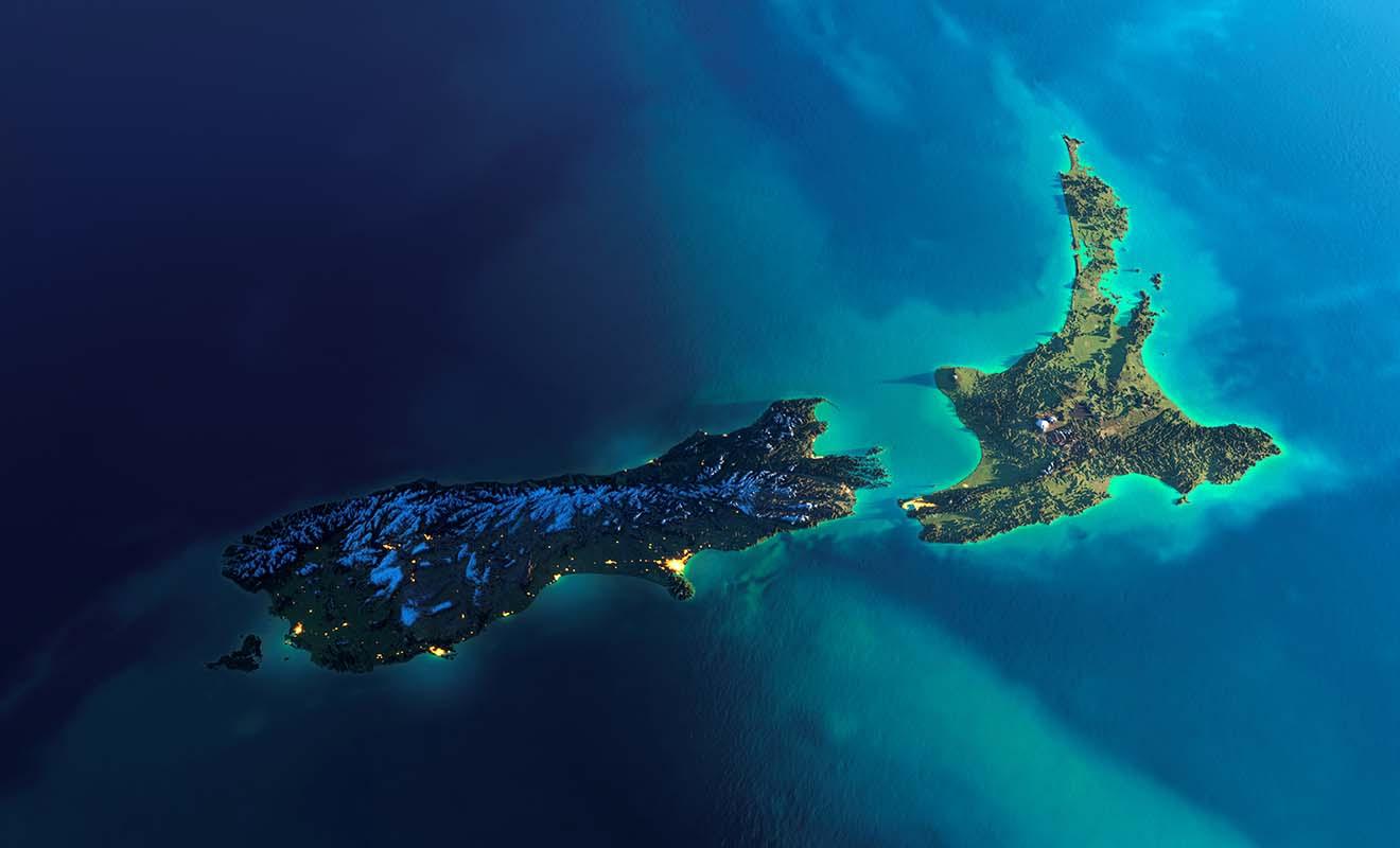 S'il faut comparer, la Nouvelle-Zélande est grande comme les deux tiers de la France, comme le Japon ou le Royaume-Uni.