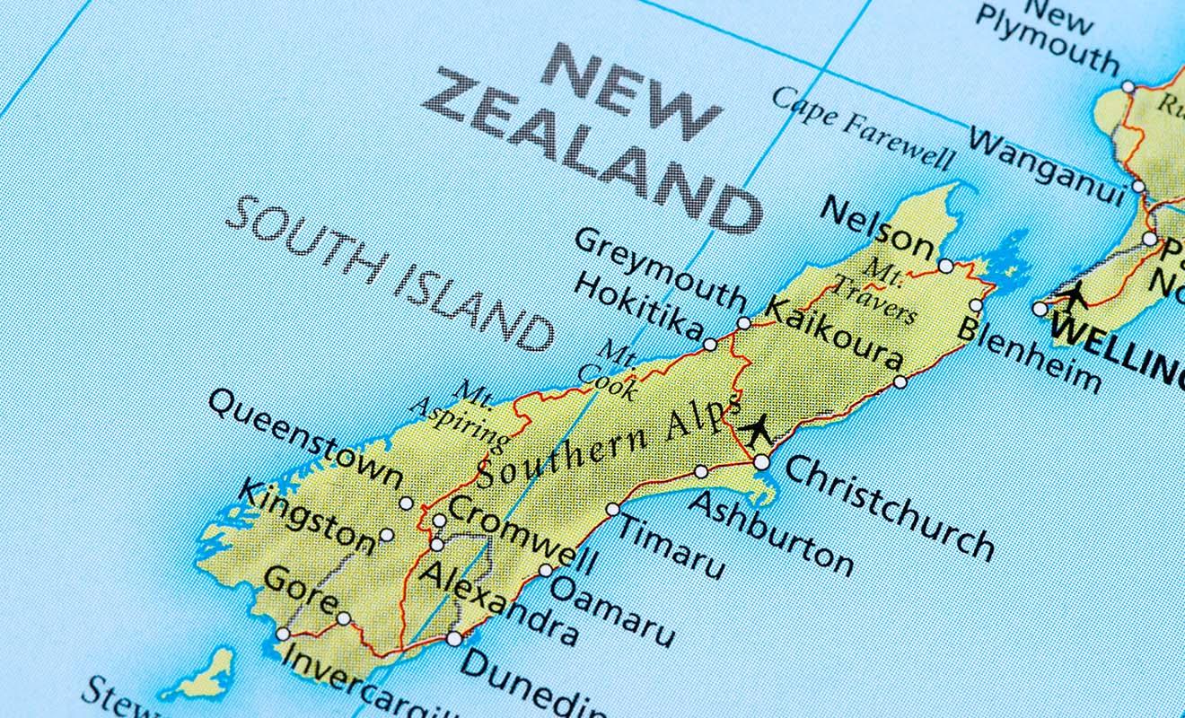 Ne vous y trompez pas, la chaîne des Alpes de l'île du Sud bloque le passage d'une côte à l'autre. Il faut parfois faire des détours de plusieurs centaines de kilomètres pour rejoindre un lieu qui est très proche à vol d'oiseau.