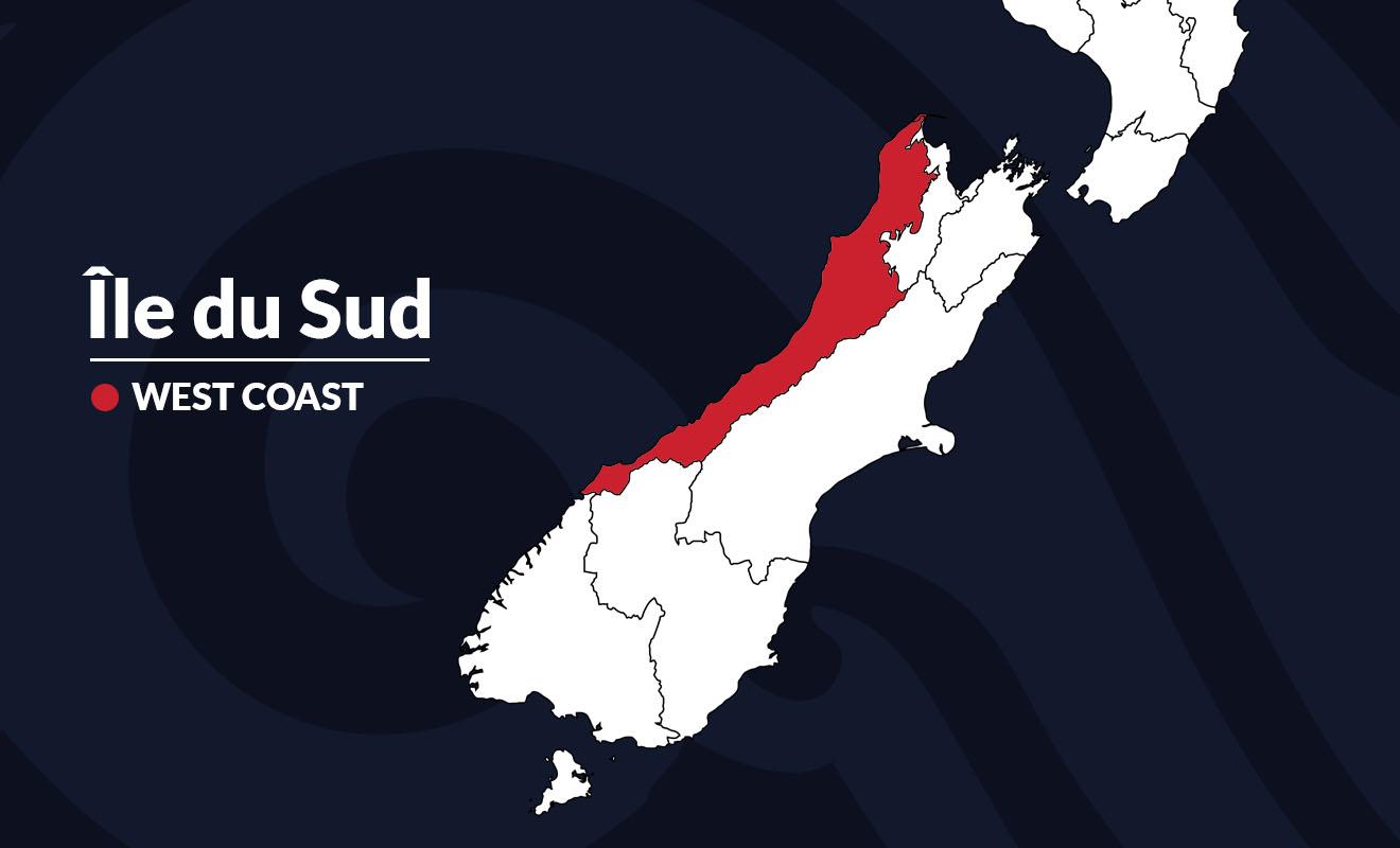 Seconde plus grande région de Nouvelle-Zélande, la West Coast couvre une grande partie de la côte Ouest.