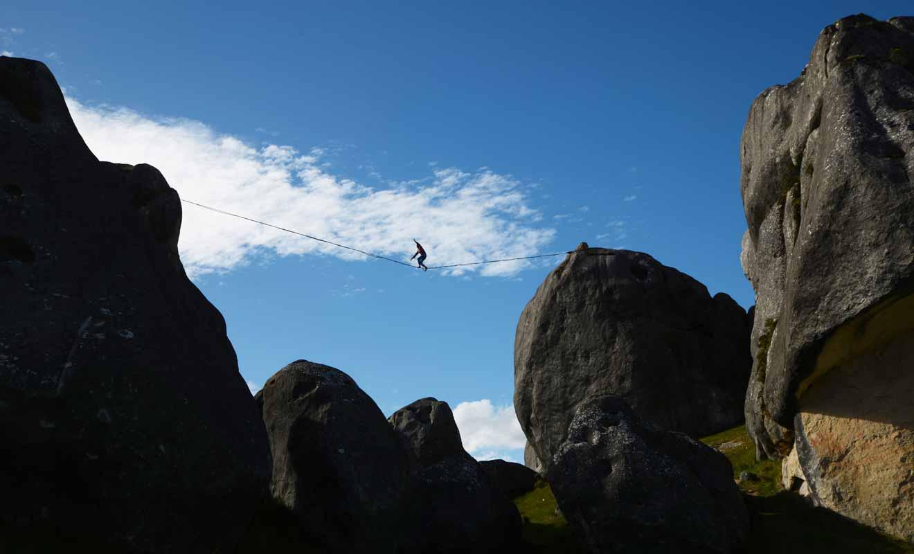 L'escalade est amusante, mais il ne suffit pas de monter, encore faut-il pouvoir redescendre !