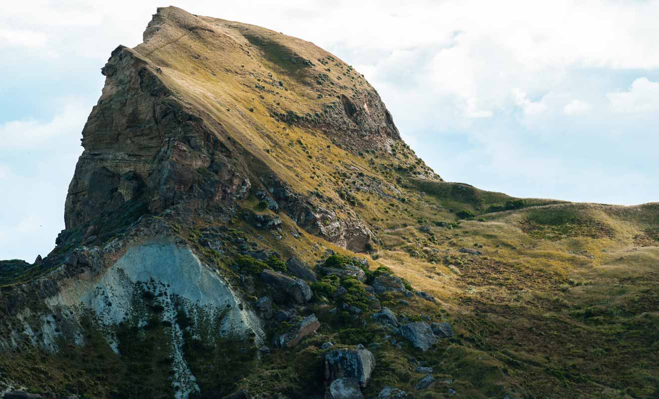 Vous pouvez vous contenter de monter jusqu'à la moitié du rocher seulement.