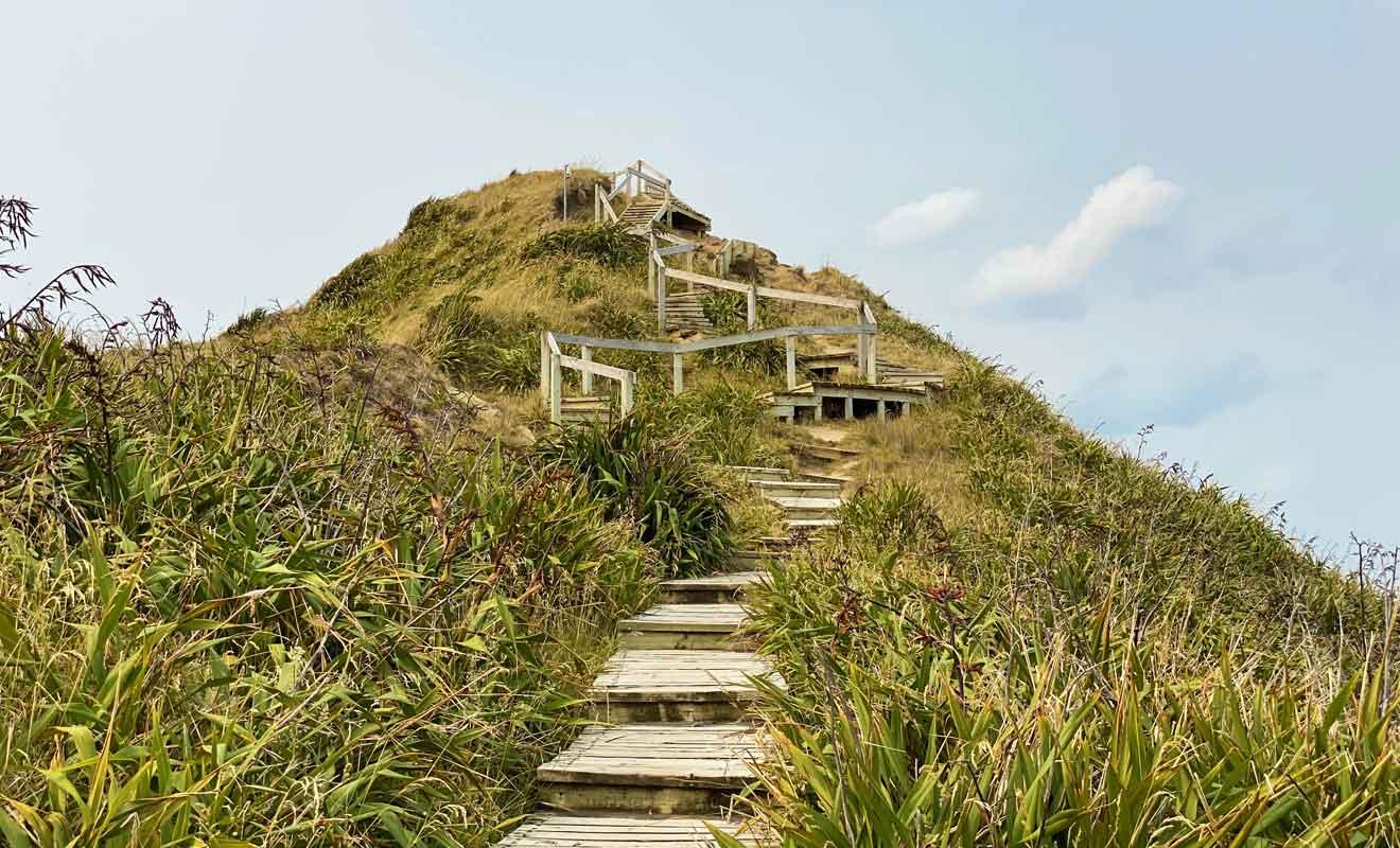 La visite ne s'arrête pas au phare et un sentier continu après pour mener à un belvédère.