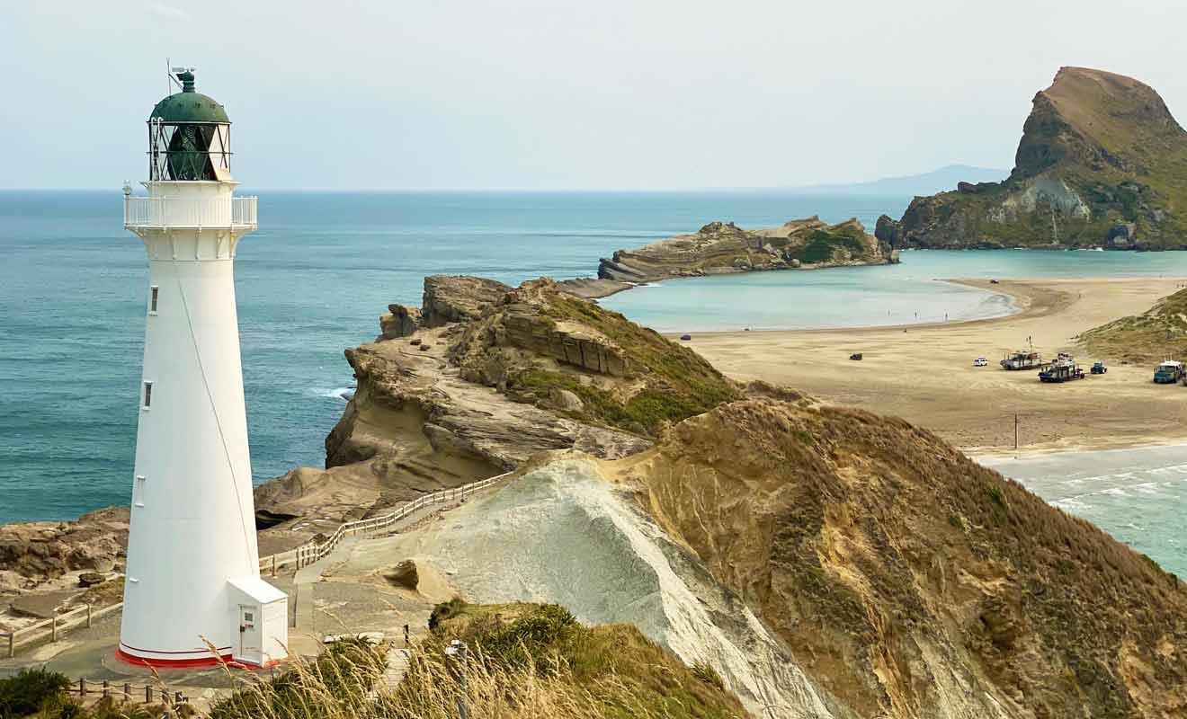 Depuis le Castlepoint Lookout, vous pouvez admirer tout le panorama sur 360°.
