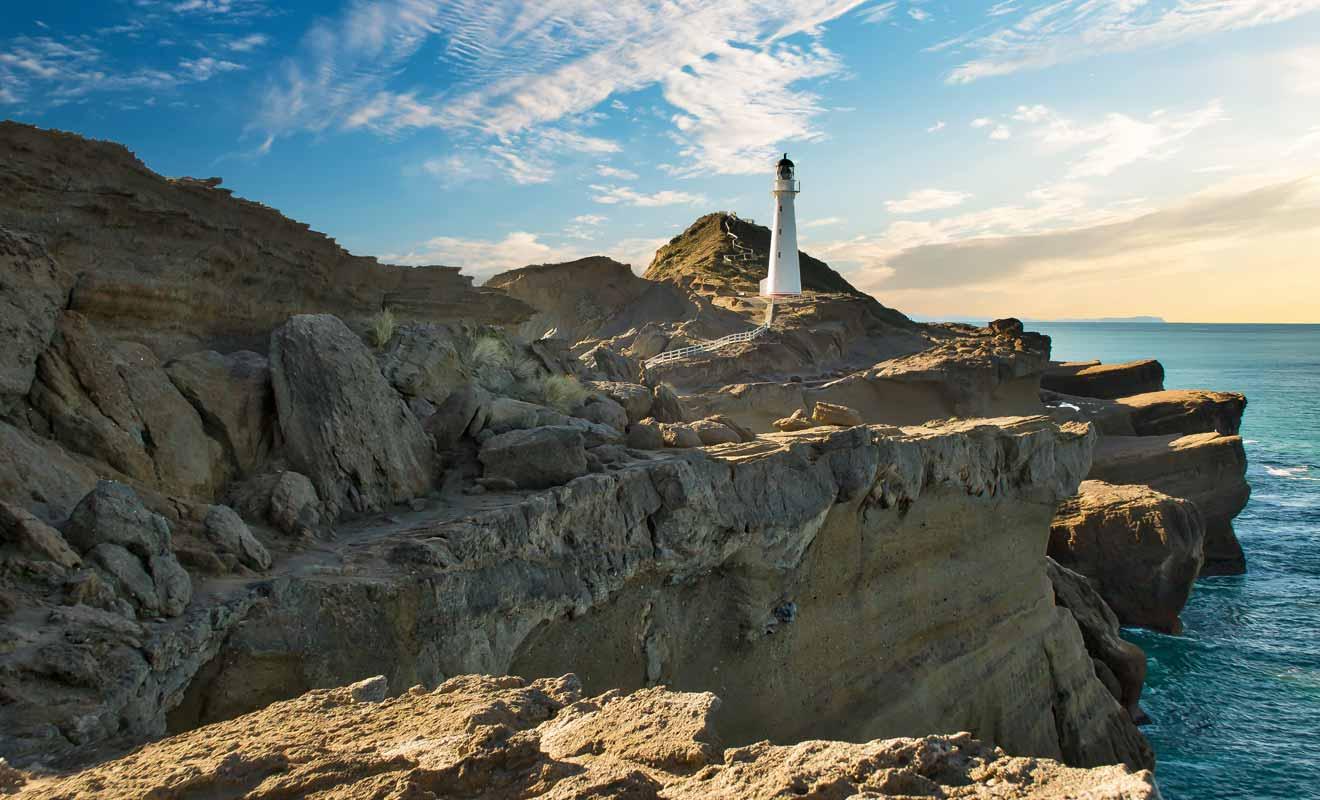 Difficile de trouver un phare plus photogénique en Nouvelle-Zélande, mis à part peut-être celui de Cap Palliser.