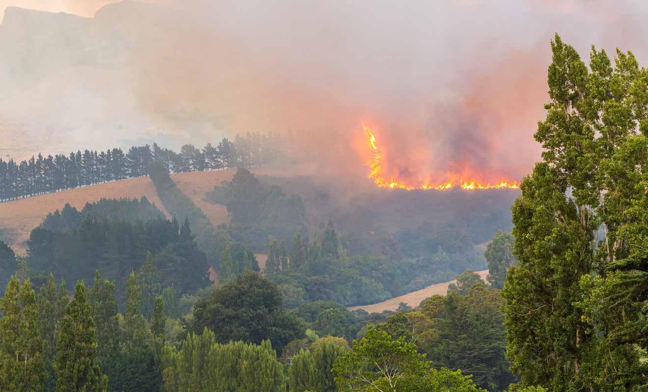 Les remontées mécaniques qui n'avaient pas été stoppées ont propagé l'incendie dans les collines.