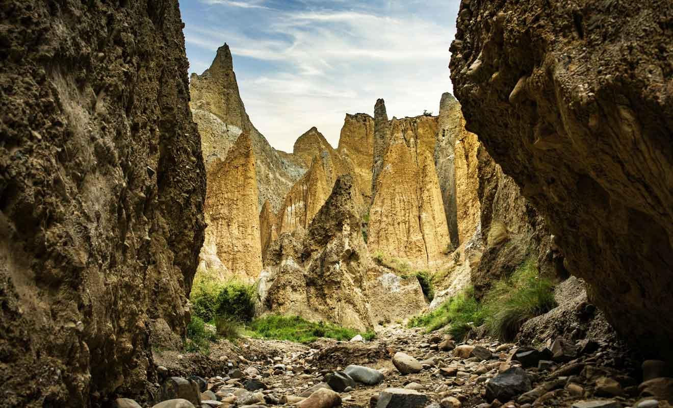 L'intérieur des Clay Cliffs est encore plus saisissant que l'extérieur.