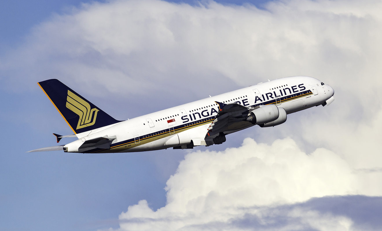 Singapour Airlines est considérée comme la meilleure compagnie aérienne au monde, et les vols pour la Nouvelle-Zélande qui transitent par Singapour se déroulent à bord d'un Airbus A380.