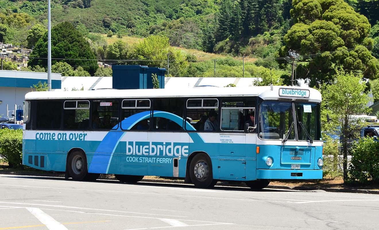 Pour rejoindre le centre-ville de Picton, ou gagner le terminal, Bluebridge met un bus gratuit à votre disposition.