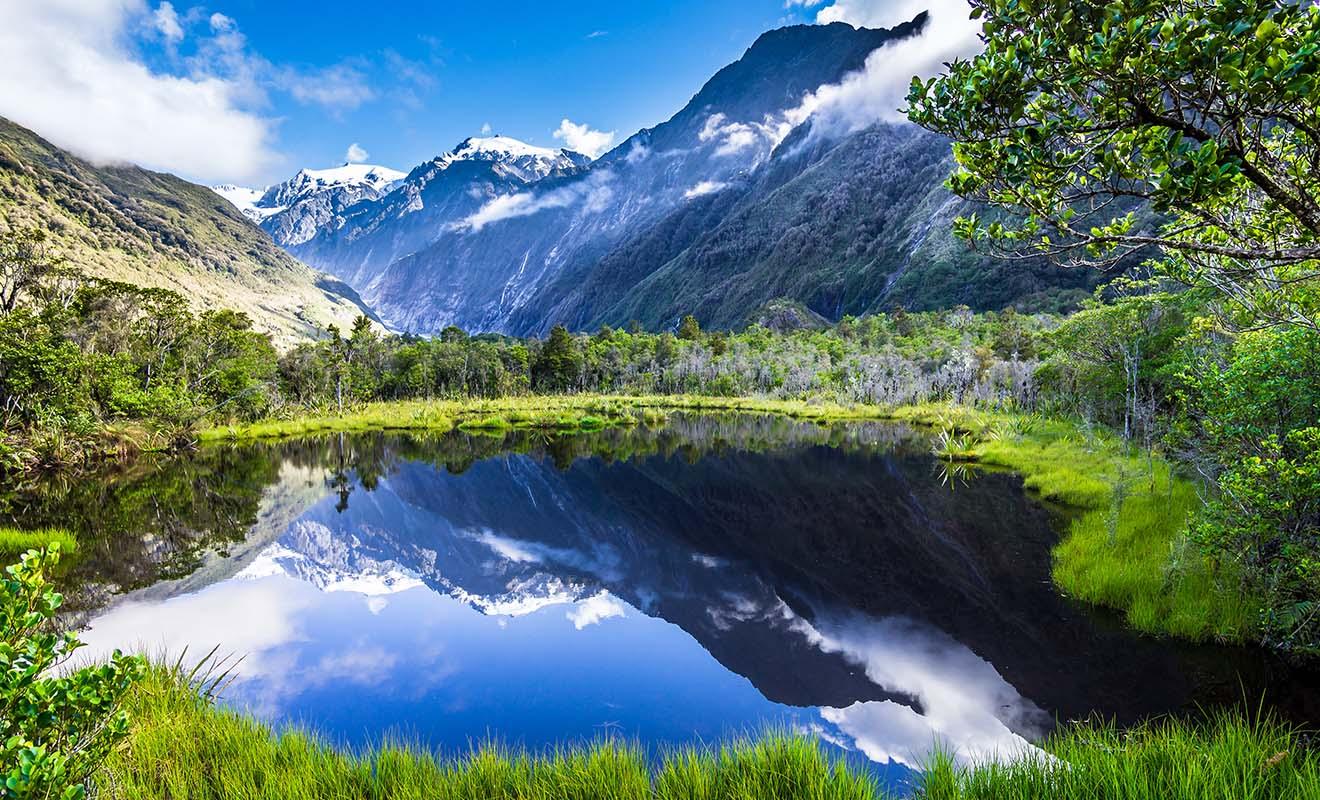 La Nouvelle-Zélande semble proche du Pôle Sud, mais son climat subtropical est en réalité doux toute l'année.