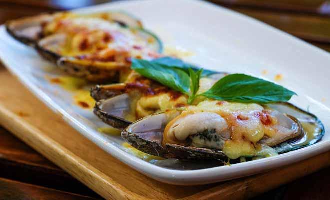 Il faut bien sûr aimer les moules pour apprécier les Green Mussels, qui sont absolument gigantesques !