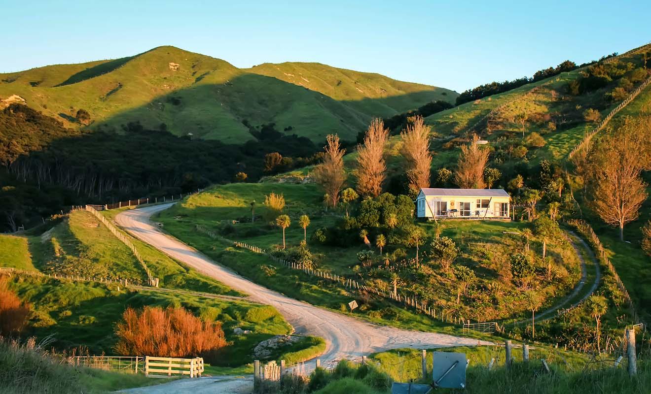 À l'écart du Tourisme, la région de Gisborne offre des paysages de campagne vallonnés très photogéniques.