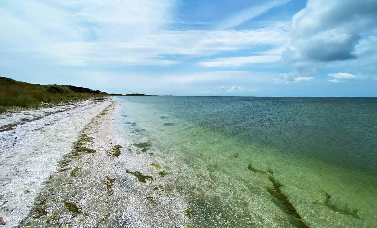La marée peut reculer des sept kilomètres à cet emplacement.