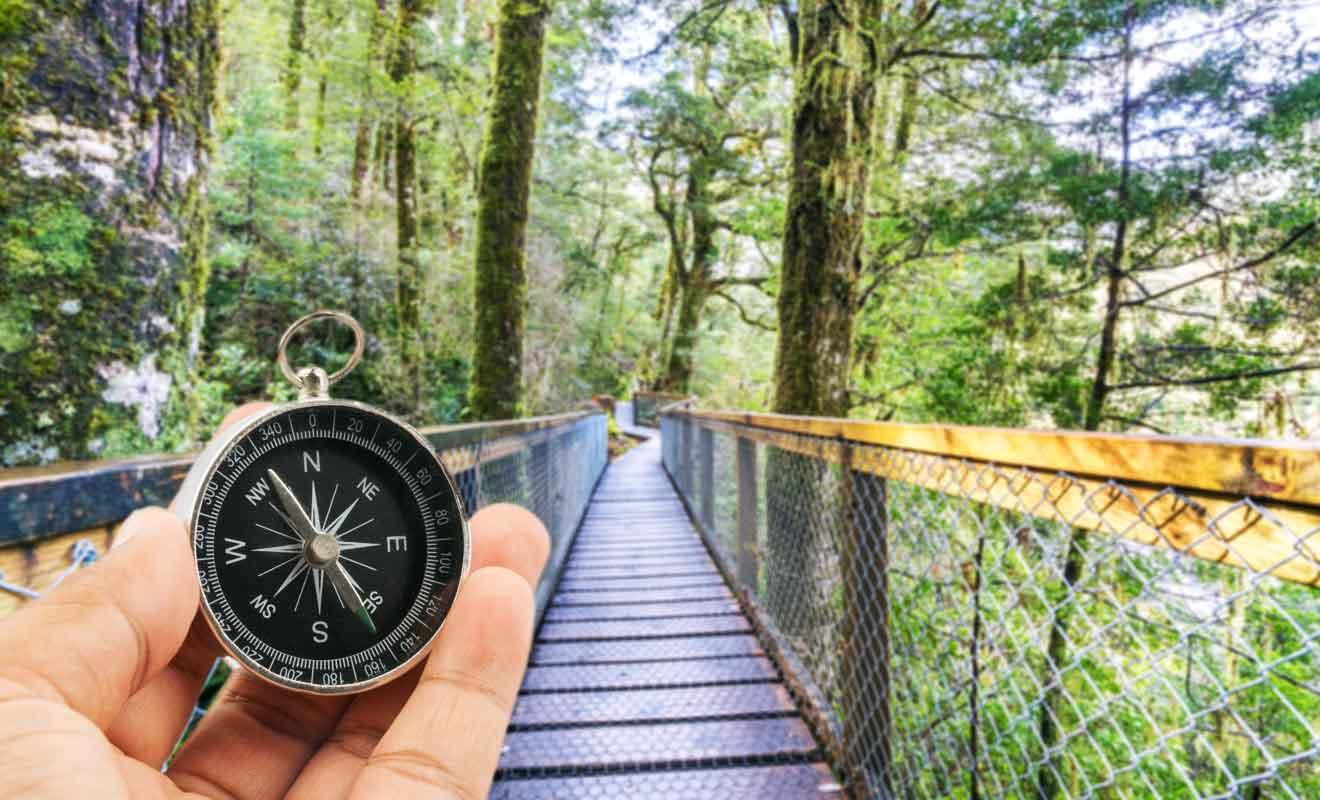 Pour identifier les points de départ des randonnées, il vaut mieux utiliser un GPS.