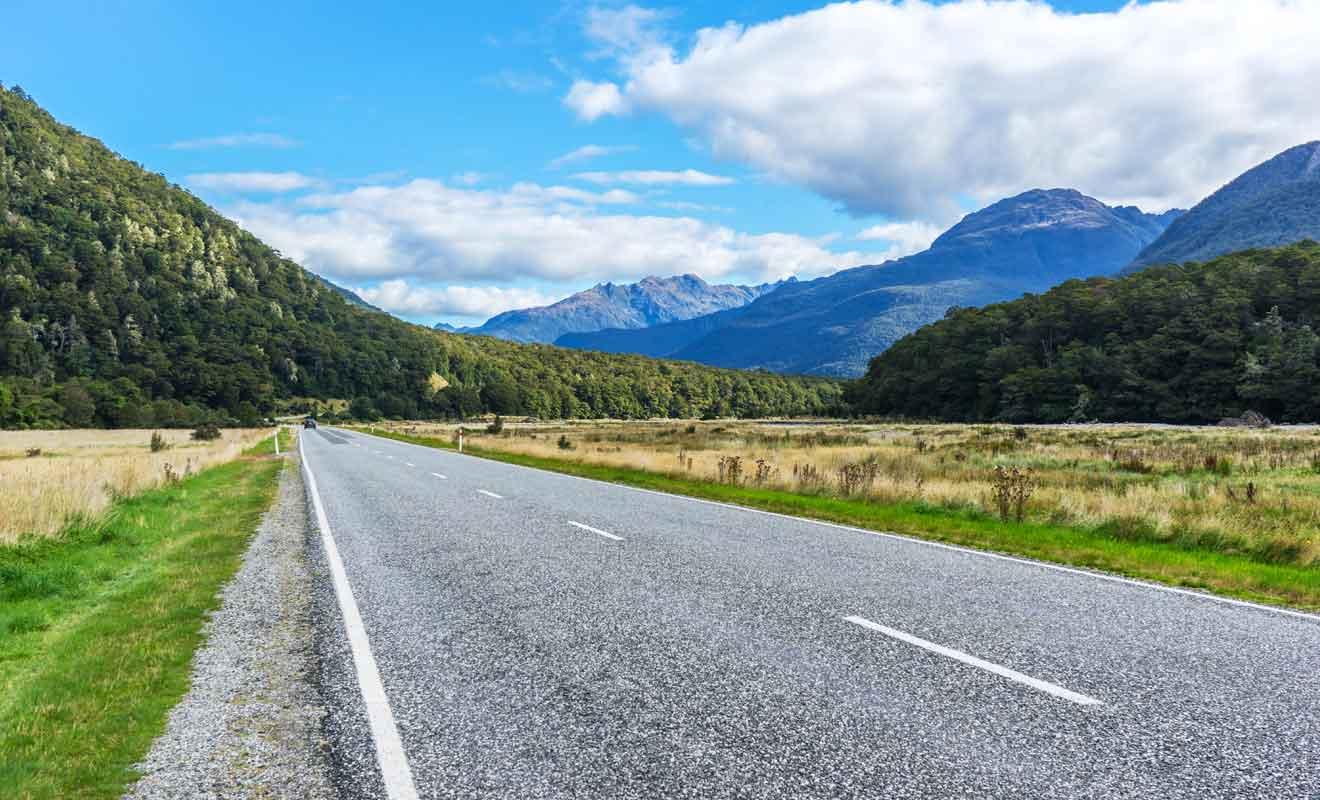 La Haast Highway couvre 140 km pour relier l'Otago et la West Coast.