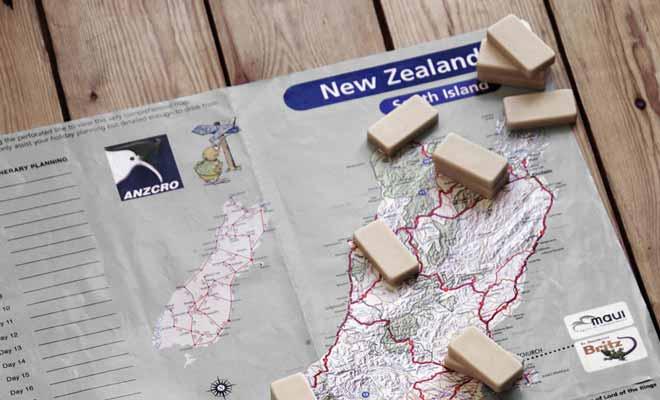 Les guides de Kiwipal tiennent compte des distances pour préparer des itinéraires raisonnables.