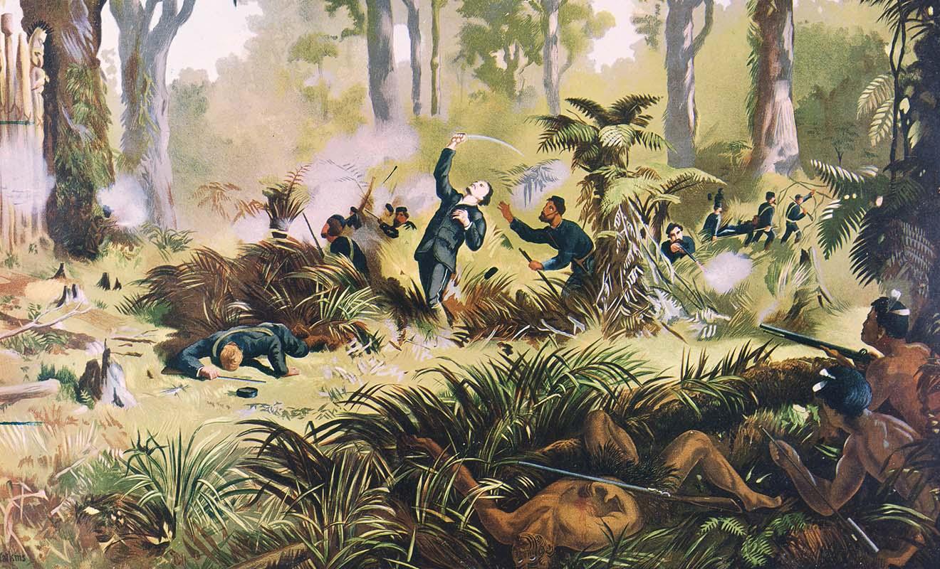 Le terrain se prête bien à la guérilla, et de nombreuses embuscades sont organisées en forêt.
