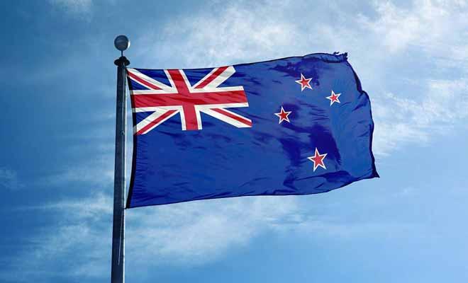 Les étoiles sur le drapeau news zélandais représentent la croix du sud, visible de ce côté du globe.