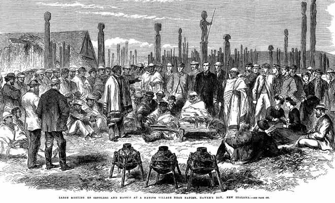 Les relations entre les maoris et les britanniques restent cordiales tant qu'il n'est question que de troc.