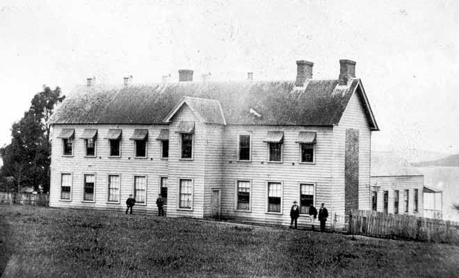 Le premier parlement de Nouvelle-Zélande tenait dans une simple maison.