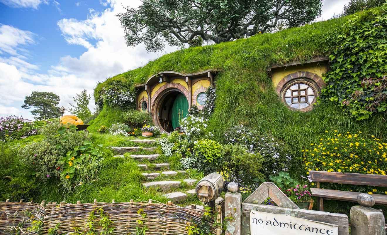 Au sommet du village, la demeure de Bilbo puis de Frodon est une pure merveille.