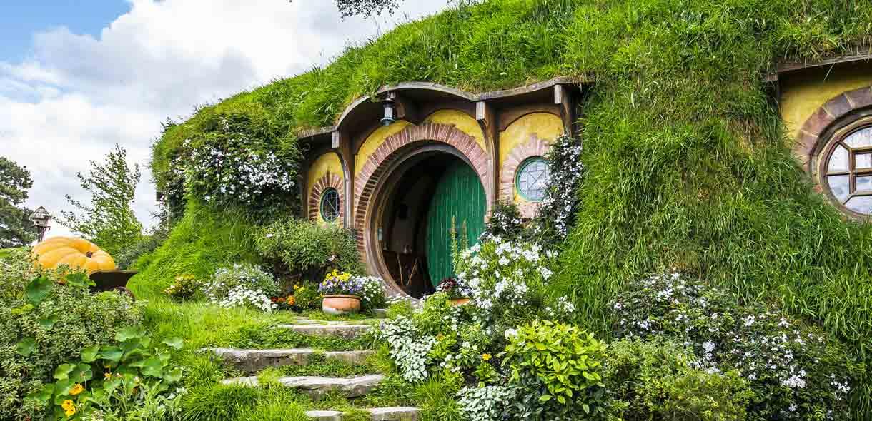Hobbiton, dans la région du Waikato sur l'île du Nord.