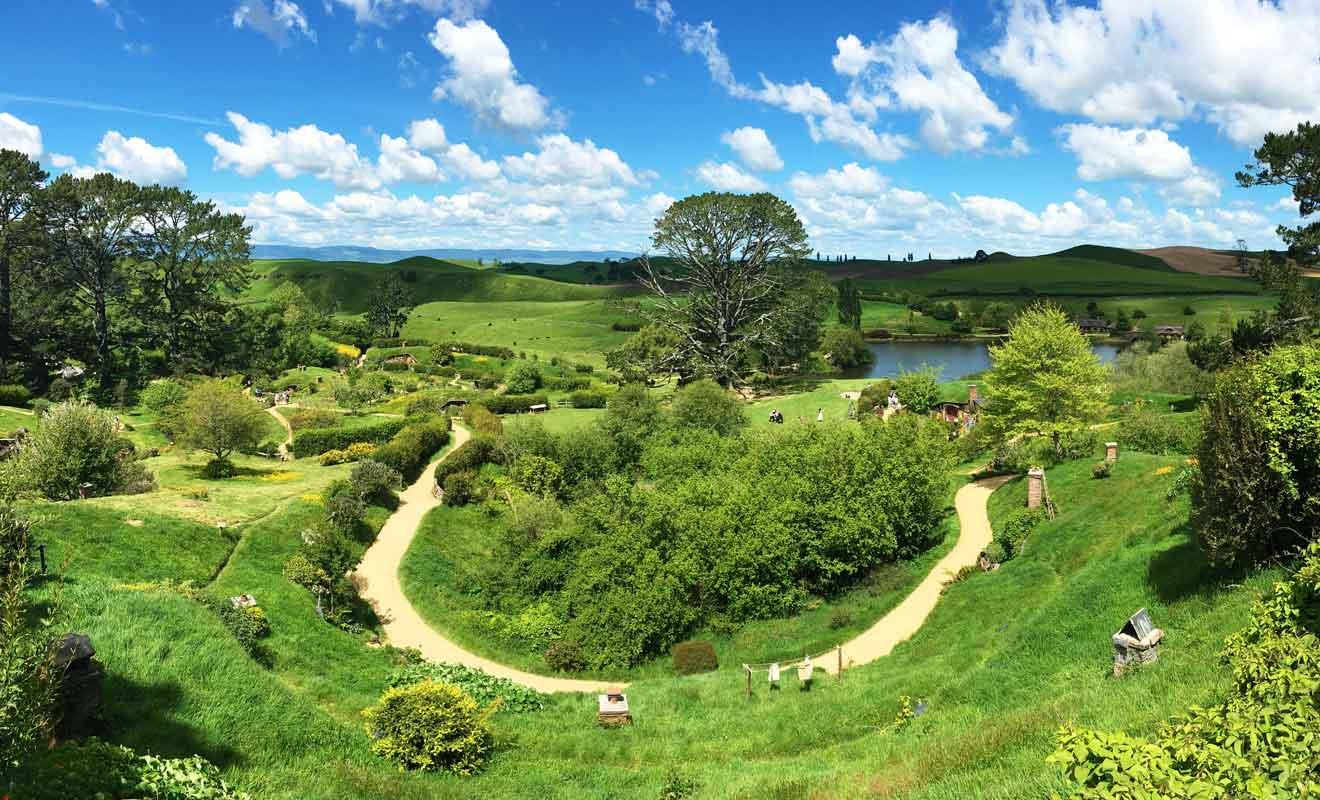 Vous ne visiterez pas tout le village, mais le sentier qui grimpe la colline offre une belle vue d'ensemble.