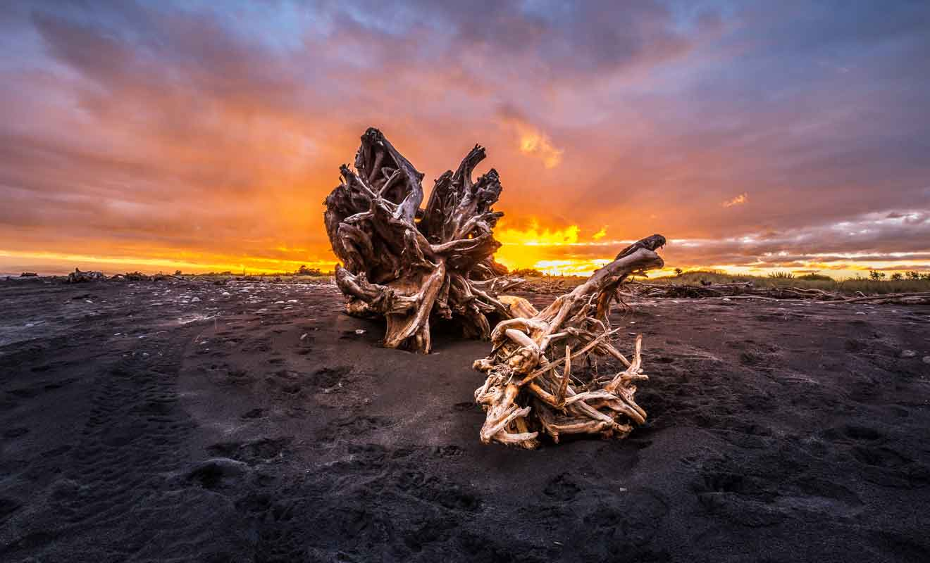 Le climat est peut-être difficile à supporter dans cette région de Nouvelle-Zélande, mais la beauté des paysages est à ce prix.
