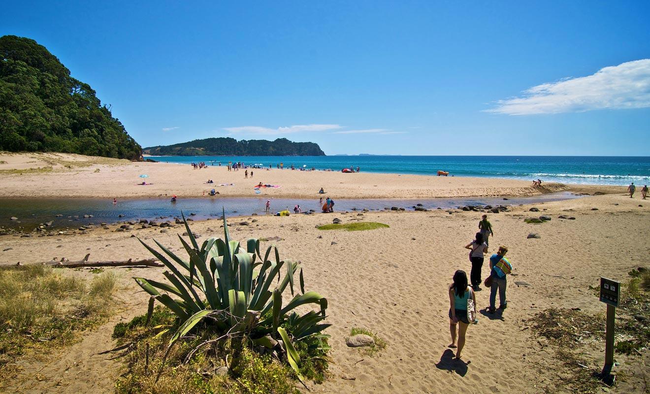 Si l'activité géothermique s'est peu à peu éteinte dans la région, il reste quelques vestiges d'autrefois. La plage de Hot Water Beach en est le parfait exemple.