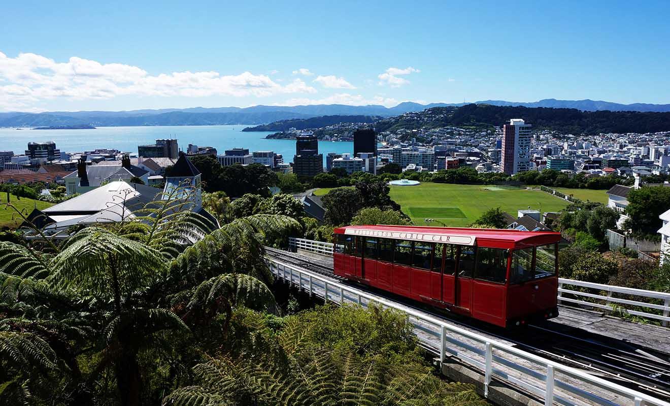 Même s'il faut supporter un vent qui souffle fort, Wellington est la ville que Aurore a le plus appréciée en Nouvelle-Zélande.