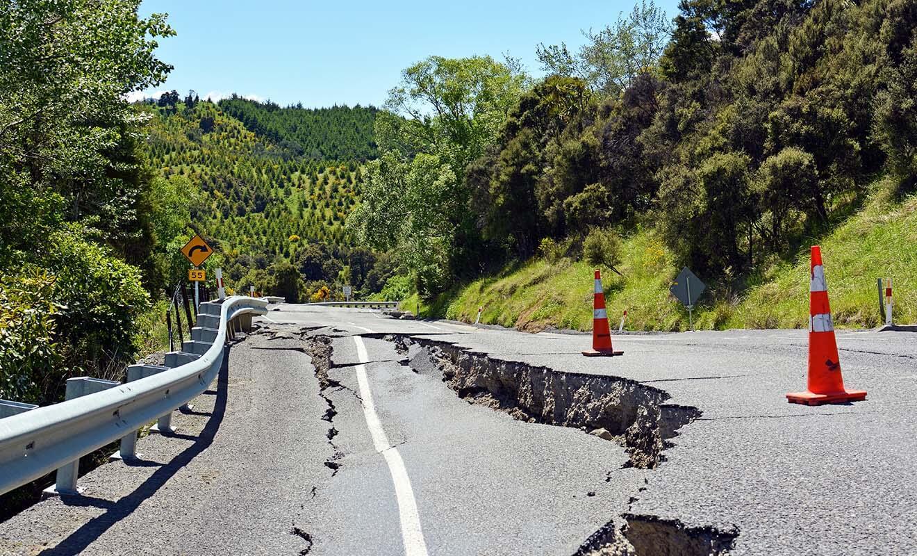 Les voies d'accès vers Kaikoura avaient été endommagées par le tremblement de terre, mais elles ont été vite rétablies.