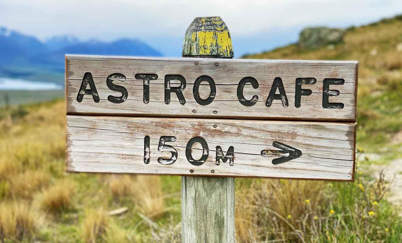 La perspective de trouver des boissons fraîches dans l'Astro Cafe devrait vous motiver pour les derniers mètres.
