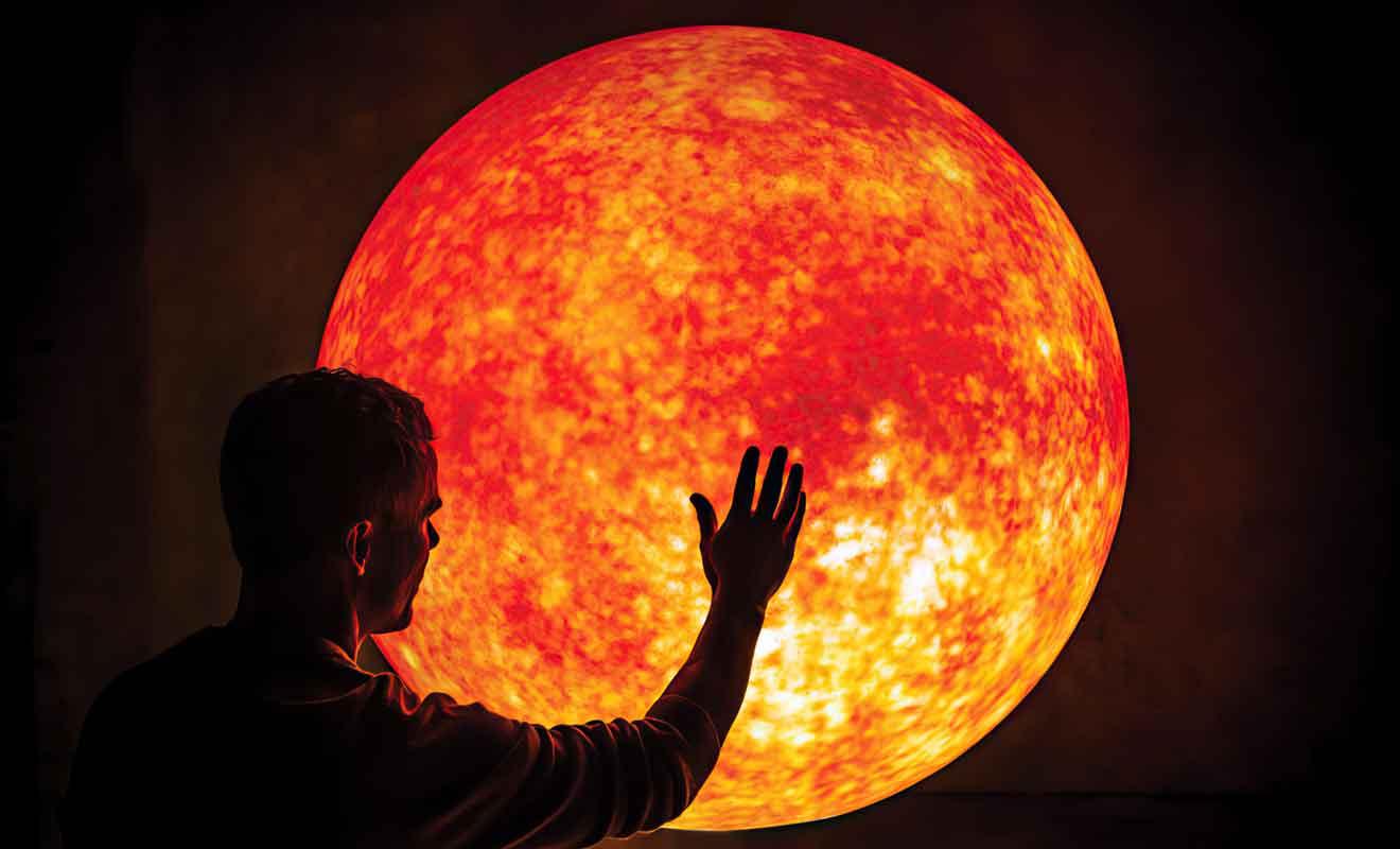 Des sphères géantes permettent de reproduire des étoiles de différentes catégories.