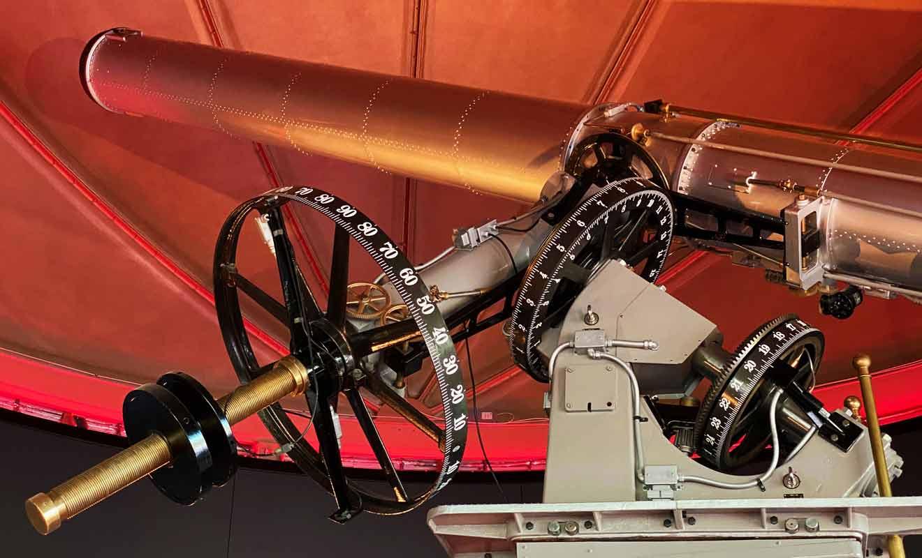 Le guide vous fera une démonstration du fonctionnement du télescope.