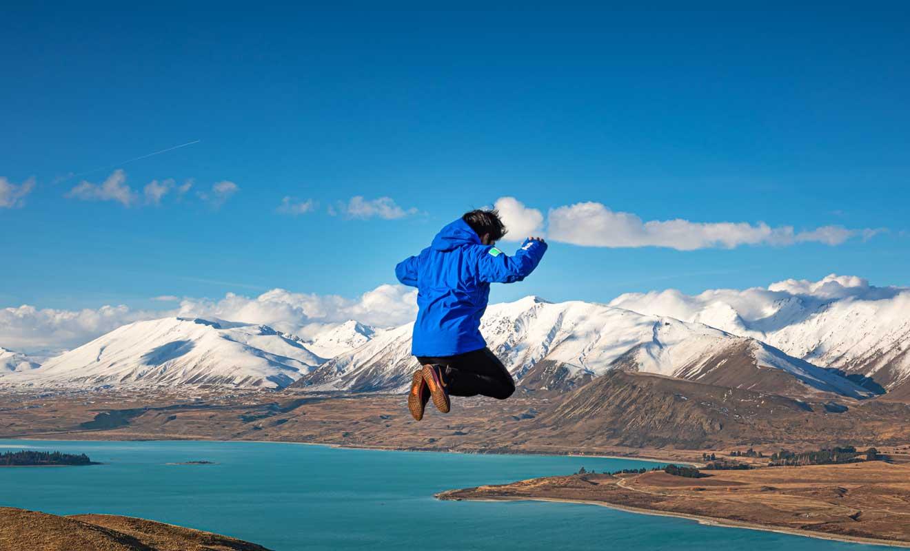 Le pic de fréquentation au lac Tekapo se situe entre décembre et mars.