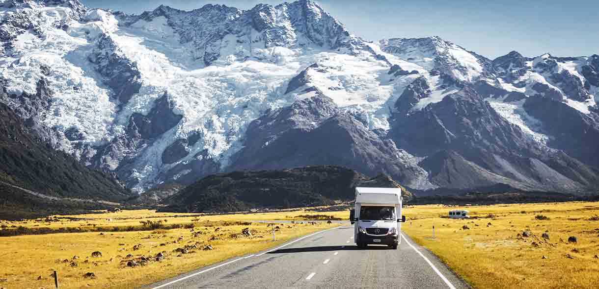 Louez un camping-car ou un mini-van en Nouvelle-Zélande.